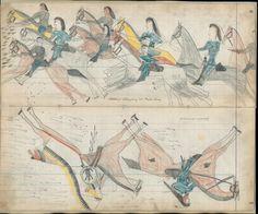 Cheyenne camp attacked at Powder River Native American Drawing, Native American Artwork, American Indian Art, Native American Indians, Native Americans, Native Drawings, Hidden Art, Indian Beadwork, How To Make Drawing