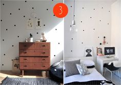 """polka dots wall decor"""