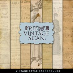 New Freebies Kit of Vintage Style Backgrounds by Far Far Hill