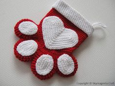 Paw Print Christmas Stocking. i just love this. i might have to get the pattern…