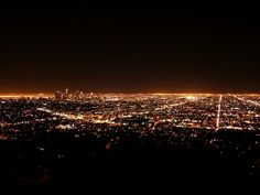 Los Angeles from Griffith Observatory...one time after a huge rain the smog cleared enough that I could see all the way to the ocean