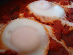 Eggs in Purgatory - Can use left over tomato sauce or crushed tomatoes ...