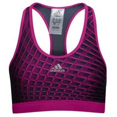 adidas Techfit Momentum Grid Bra - Women's - Vivid Pink/Urban Sky/Matte Silver