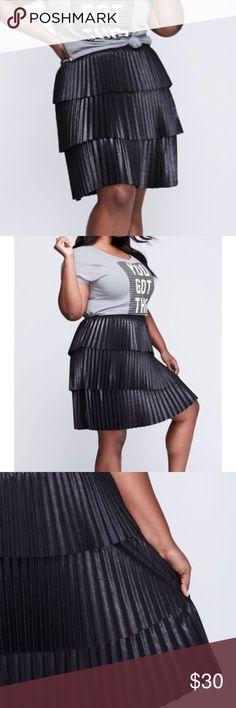 Lane Bryant black tiered pleated skirt 18/20 NEW Lane Bryant black tiered pleated skirt. Sz 18/20. New without price tags. Never worn Lane Bryant Skirts