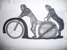 I would like to have such a tandem footbike.