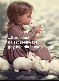 Dla przyjaciela All You Need Is Love, Motto, Cool Words, Animals And Pets, Quotations, Children, Kids, Motivational Quotes, Pictures