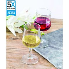 Buy a set of 12 Hostelvia Breval Tempered Wine Glasses online from Kitchen Junky - South Africa. tougher than regular glasses and perfect for entertaining. Wine Glasses Online, White Wine, Alcoholic Drinks, White Wines, Liquor Drinks, Alcoholic Beverages, Liquor