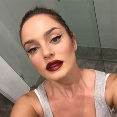 This slick burgundy lip. | 19 Chloe Morello Looks You'll Want To Try Immediately