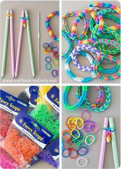 Rubber band bracelets - by Craft & Creativity
