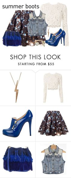 """""""Summer Booties"""" by janastasiagg ❤ liked on Polyvore featuring Edge Only, A.L.C., Christian Louboutin, Sara Battaglia, White Crow, Marie Hélène de Taillac, Summer, summerstyle, summerdate and summerbooties"""