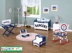 Texas Rangers themed nursery