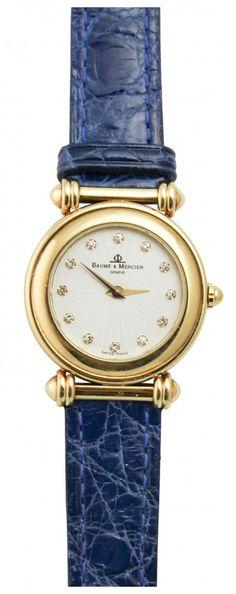 Baume Mercier 18k Yellow Gold Ladies Watch : Lot 281