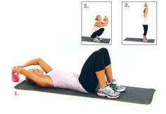 Activate your legs, core and shoulders with this advanced sit-up variation