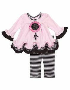 Rare Editions Baby Girls Flower Striped Dress « Clothing Impulse