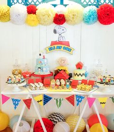 Peanuts + Snoopy Birthday Party on Kara's Party Ideas | KarasPartyIdeas.com (19)