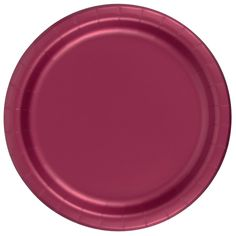 Marsala High End Solid Color 9 Inch Paper Plate | Eva\'s Baby Shower ...