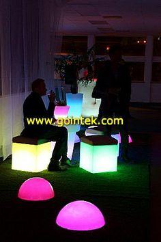 Decoration Novel Design Square Led Cube With Cushion, Skype: gointekcom Email: gointekcom@gmail.com MSN:gointekcom@hotmail.com Web: www.gointek.com