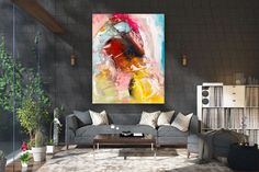 Large Painting on Canvas,Original Painting on Canvas,modern wall canvas,abstract originals,huge canvas painting FY0002