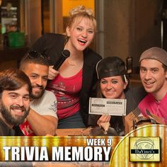 Placing 3rd is no easy task.  Form a team and come on down for some good competition, food and beer.  Sign up http://davincisdelivers.com/trivia-signup/