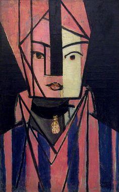 """Henri Matisse, """"Tête blanche et rose"""", Paris, 1914-1915."""
