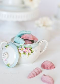 Colored sugar shapes for a tea party or just for fun.  Very easy to make and so pretty.