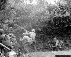 29th infantry division fighting near Saint-Jores, Normandy, 5 July 1944.