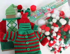 Glass candle sweaters, cute accessory ideas for an ugly sweater Christmas party