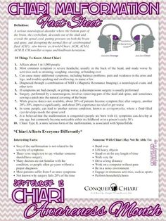 chiari awareness september month - Google Search
