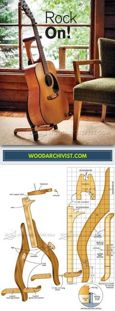 DIY Guitar Stand - Woodworking Plans and Projects | WoodArchivist.com