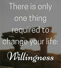 #successweek 50 #willingness  The only #thing needed to #change your #life.