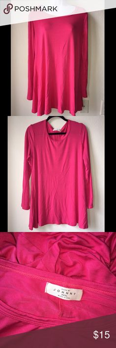 MADE BY JOHNNY Pink Long Sleeve Blouse/Top XXXL Women's MADE BY JOHNNY Pink Long Sleeve Blouse/Top Size XXXL great Condition. Super comfortable!! Made in USA made by johnny Tops Tees - Long Sleeve