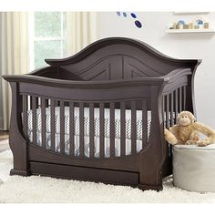 "Eco Chic Baby Dorchester 4-in-1 Convertible Crib - Slate - Eco Chic Baby - Babies ""R"" Us"