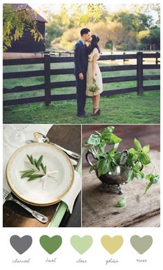 garden wedding color palettes - Google Search