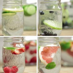 infused water recipes These 4 Fruit-Infused Waters Are The Perfect Ways To Stay Hydrated Healthy Water, Healthy Detox, Healthy Smoothies, Healthy Drinks, Healthy Recipes, Easy Detox, Fruit Drinks, Fruit Smoothies, Eating Healthy
