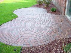 Sealed brick paver patio.