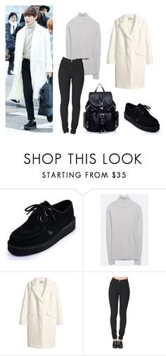 """""""bts airport 150129 [v]"""" by chichi23 ❤ liked on Polyvore featuring H&M and American Apparel"""