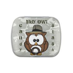 Indy owl candy stash box