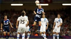 Tom Cleverley of Great Britain heads the ball during the men's Football first round group A match between Great Britain and Uruguay on Day 5 of the London 2012 Olympic Games at Millennium Stadium.