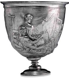 The Warren Cup, British Museum. This cup fully shows that hedonism was very much practiced in ancient cultures.