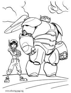 Baymax Hero Coloring Page For Kids Printable Free Big 6