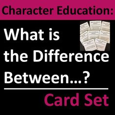 Character education cards require students to consider real-life scenarios, possible actions, and intentions. Thought-provoking homeroom, warm-up, character education, advisory, or life skills group discussion activity. Cards can be used as a small group or whole group discussion activity, or as individual writing prompts. Set includes 40 cards plus blank templates for student- or teacher-generated questions. Life Skills Activities, Group Activities, Character Education Lessons, Small Groups, Thought Provoking, Writing Prompts, Middle School, Real Life, Thoughts