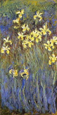 Claude Monet - Yellow Irises (1914-17)