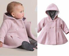 Wintermode für kleine Mädchen in Rosa Farbe