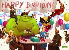 Happy Birthday Superhero, Happy Birthday Tony, Avengers Birthday, Happy Birthday Greetings, Birthday Greeting Cards, 15 Birthday, Birthday Presents, Birthday Wishes Quotes, Birthday Messages