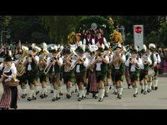 Oktoberfest Munich Blaskapellen Trachtenumzug 1.Teil Schützenumzug 2013