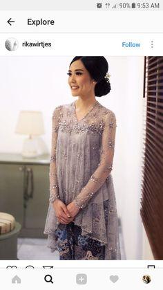 New Dress Lace Hijab Style Ideas Kebaya Modern Hijab, Kebaya Hijab, Kebaya Brokat, Kebaya Muslim, Dress Brokat Modern, Kebaya Lace, Batik Kebaya, Kebaya Dress, Batik Fashion