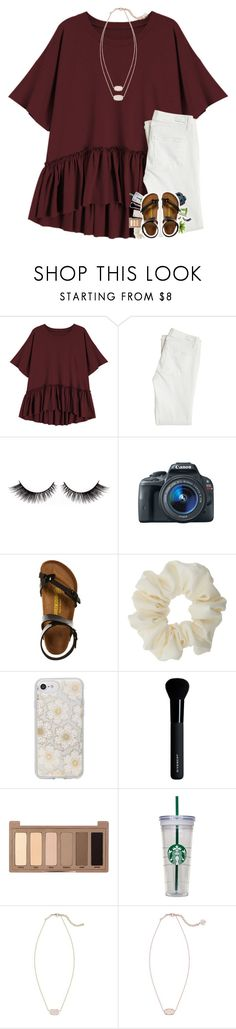 """19 days of school left!"" by sanddollars ❤ liked on Polyvore featuring Paige Denim, Eos, Birkenstock, Miss Selfridge, Sonix, Givenchy, Urban Decay, WALL and Kendra Scott"