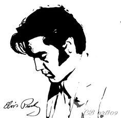 Poster Elvis sur papier.                            600x 400.  C B 109 Stencil Painting, Painting & Drawing, Mickey Mouse Stencil, Fat Elvis, Elvis Tattoo, Bruce Lee Art, Silhouette Vinyl, Sailor Jerry, Guitar Art