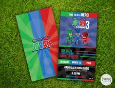PJ Masks Party- Invitation