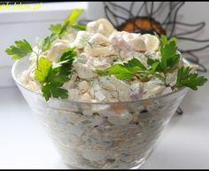 Sałatka z tortellini i jajkiem Tortellini, Tzatziki, Potato Salad, Salads, Curry, Potatoes, Ethnic Recipes, Food, Recipes